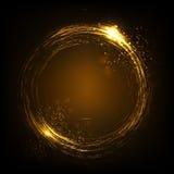 Błyskotliwy gwiazdowego pyłu świateł okrąg Ilustracja odizolowywająca na tle Graficzny pojęcie dla twój projekta Zdjęcie Royalty Free