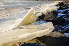 Błyskotliwy lód w słońcu Obrazy Royalty Free
