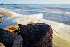 Błyskotliwy lód w słońcu Zdjęcia Stock