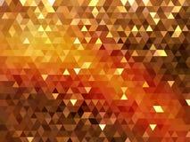 Błyskotliwy złocisty nowożytny trójgraniasty rozjarzony wieloboka tło royalty ilustracja