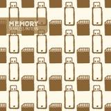 Błyskowej pamięci bezszwowy wzór Zdjęcie Royalty Free