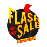 Błyskowy sprzedaż plakat, sztandar lub ulotka projekt, Zdjęcie Royalty Free