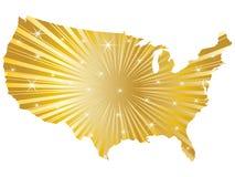błyszcząca amerykańska mapa Zdjęcie Stock