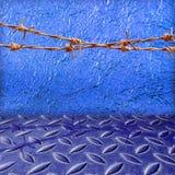 Błyszcząca błękitna liść folii tekstura Obraz Royalty Free