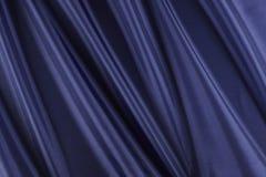 błyszcząca błękitny tkanina Zdjęcia Royalty Free