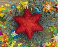 Błyszcząca dekoracyjna gwiazda Obraz Royalty Free
