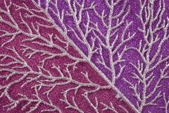 Błyszcząca gałąź na różowym Bożenarodzeniowym tło monochromu fotografia royalty free