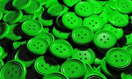 Błyszcząca grupa klingeryt zieleni guzik odziewa Obraz Royalty Free