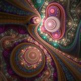 Błyszcząca kolorowa krzywa, cyfrowa grafika royalty ilustracja