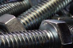 Błyszcząca metal dokrętka, rygiel i Obraz Stock