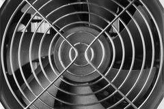 Błyszcząca metal siatka nad plastikowym fan obraz stock