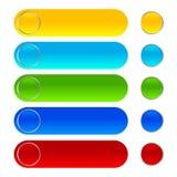 Błyszcząca sieć zapina kolor ikony fotografia stock
