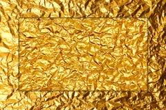 Błyszcząca złocista folia Obraz Royalty Free