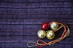 Błyszczące dyskotek piłki dla bożych narodzeń Fotografia Royalty Free