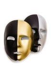 Błyszczące maski odizolowywać Zdjęcia Royalty Free