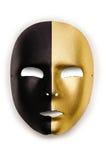 Błyszczące maski odizolowywać Fotografia Royalty Free