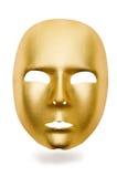 Błyszczące maski odizolowywać Zdjęcia Stock