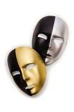 Błyszczące maski odizolowywać Obrazy Royalty Free