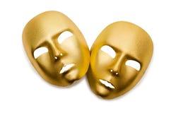 Błyszczące maski odizolowywać Zdjęcie Stock