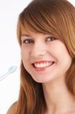 błyszczące zęby Fotografia Stock