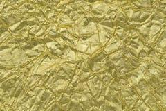 Błyszczącego żółtego liścia złocista folia Obraz Royalty Free