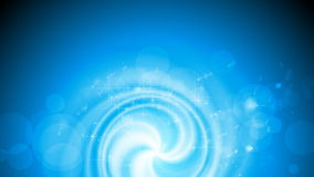 Błyszczącego błękitnego zawijasa wideo animacja z iskrami ilustracji
