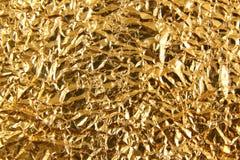 Błyszczącego metalu tekstury żółty złoty tło Kruszcowy złocisty patt obrazy stock