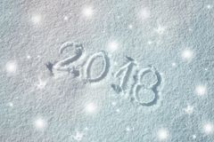 Błyszczący śnieżny nowego roku kartka z pozdrowieniami tło Zdjęcie Stock