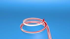 Błyszczący świąteczny faborek tworzy choinka symbol 3d odpłacają się boże narodzenia jaskrawy świeży skład 3d nowy rok ilustracji