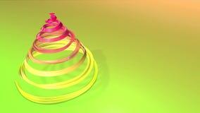 Błyszczący świąteczny faborek tworzy choinka symbol który wiruje 3d odpłacają się Bożenarodzeniowy jaskrawy skład bezszwowy zdjęcie wideo
