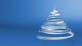 Błyszczący świąteczny faborek tworzy choinka symbol który wiruje 3d odpłacają się Bożenarodzeniowy jaskrawy soczysty skład zbiory
