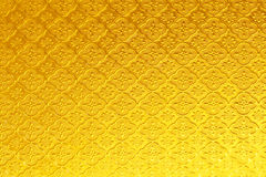 Błyszczący żółtego złota witrażu tekstury tło Fotografia Royalty Free