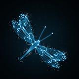 Błyszczący abstrakcjonistyczny dragonfly ilustracji