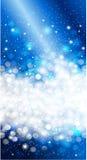Błyszczący Błękitny bożego narodzenia zaproszenia tła projekt Fotografia Royalty Free