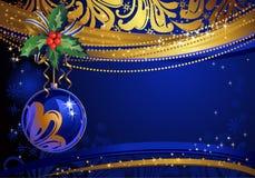 błyszczący błękitny tło boże narodzenia royalty ilustracja