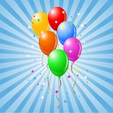 Błyszczący Balony Fotografia Stock
