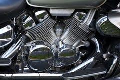 Błyszczący chrom matrycujący motocyklu silnik fotografia royalty free