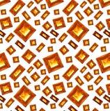 Błyszczący czerwoni rubinowi serca na białego tła bezszwowym wzorze rubinowy czerwony bursztynu wzór Obrazy Royalty Free