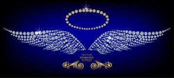 Błyszczący diamentów skrzydła Zdjęcie Royalty Free