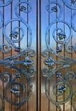 błyszczący drewniane drzwi Obrazy Royalty Free