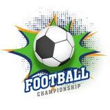 Błyszczący futbol na sztuki tle Futbolowy mistrzostwo conc royalty ilustracja