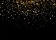 Błyszczący Gwiazdowy wybuchu światło z Złocistym luksusem Błyska Magiczny Złoty Lekki skutek Wektorowa ilustracja na czarnym tle royalty ilustracja