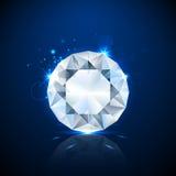 Błyszczący iskrzasty diament ilustracji
