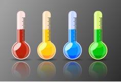Błyszczący Kolorowy termometr royalty ilustracja