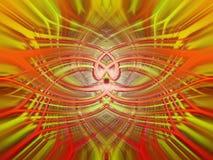 Błyszczący koloru żółtego i pomarańcze abstrakta tło Obrazy Royalty Free