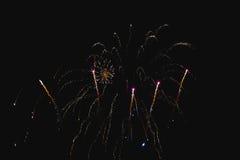 Błyszczący naturalni fajerwerki Obrazy Stock