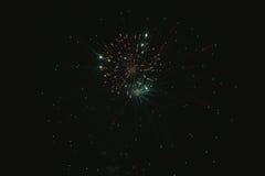 Błyszczący naturalni fajerwerki Fotografia Royalty Free