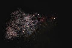 Błyszczący naturalni fajerwerki Obrazy Royalty Free
