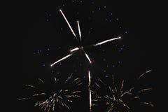Błyszczący naturalni fajerwerki Obraz Royalty Free