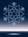 błyszczący płatek śniegu Fotografia Stock